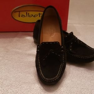 Black suede Talbots loafers size 7 M